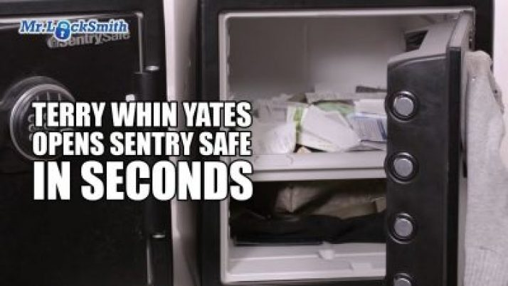 Terry Whin-Yates Opens Sentry Safe in Seconds! | Mr. Locksmith™